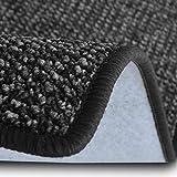 casa pura Teppich Läufer Carlton | Flachgewebe dezent Gemustert | Teppichläufer in vielen Größen | als Küchenläufer, Flurläufer | mit Stufenmatten kombinierbar (Anthrazit - 80x250 cm)