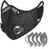 Staubdichte Fahrradmaske mit Filterchip (mit 4 Teilen)