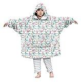 Kids4ever Kinder Übergroße Sherpa Hoodie Decke Soft Herbst Winter 3D Druck Meerjungfrau Sherpa Hoodie Pulli Kapuze Geschenk für Weihnachten Erntedank Geburtstag für 4-14 Jahre Jungen