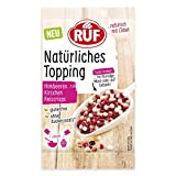 RUF Natürliches Topping Himbeeren, Kirschen, Reiscrisps, glutenfrei, ohne künstliche Zusatzstoffe, 15 g