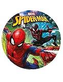 Generique - Kuchenzuckerplatte Spiderman 20 cm