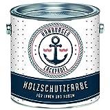 PU Holzschutzfarbe SEIDENMATT Cremeweiß RAL 9001 Weiß Hochwertige Wetterschutzfarbe Holzfarbe Holzlack - PU verstärkt, UV-beständig und Wetterbeständig - Hamburger Lack-Profi (1 L)