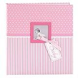 goldbuch Babyalbum mit Fensterausschnitt, Sweetheart, 30 x 31 cm, 60 weiße Blankoseiten mit 4 illustrierten Seiten und Pergamin-Trennblättern, Kunstdruck, Pink, 15801