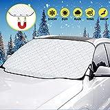 TOPLUS Scheibenabdeckung Autoscheibenabdeckung Frontscheibenabdeckung Auto Windschutzscheibenabdeckung für Winter Schneeabdeckung Eisschutzfolie und Scheibenwischer UV-Schutz