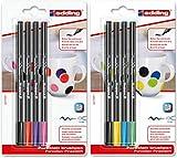 edding 4200 Porzellan-Pinselstift 4 x Standardfarbe und 4 x Zusatzfarbe Porzellan