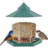 Wildvogel-Futterampel, Hängender Vogelhäuschen, Kleine und mittlere Vogelpapageienmeise Vogelhäuschen Kann im Garten Hof Balkon Wald aufgehängt Werden (Grün)