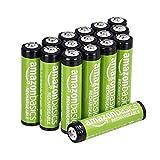AmazonBasics AAA-Batterien, 800 mAh, wiederaufladbar, 16 Stück