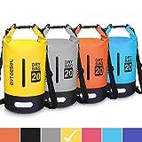 arteesol Dry Bag - 5L 10L 20L 34L Waterproof trockener Beutel/Sack wasserdichte Tasche mit Langem justierbarem Bügel für Kayaking Boots-Ausflug Kanu/Fischen/Rafting/Schwimmen/Snowboarding