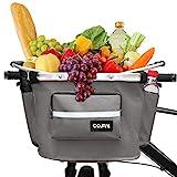 COFIT Faltbarer Fahrradkorb, Abnehmbarer Mehrzweck-Fahrradkorb für Haustiere, Shopping, Pendler, Camping und Outdoor Neuestes Grau