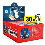 THE HEAT COMPANY Sohlenwärmer klebend - 30 Paar - EXTRA WARM - Wärmesohlen - Fußwärmer - 8 Stunden warme Füße - sofort einsatzbereit - luftaktiviert - rein natürlich - Größe SMALL: 36-40