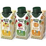 Green-Bag Bio Fruchtsaft Konzentrat: Apfel Orange Multivitamin Mix 3x 200ml Fruchtsaftkonzentrat = 3l Apfelsaft Orangensaft Multifruchtsaft | 100% natürlich Multifrucht Saftkonzentrat Saft Getränk