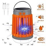 Vivibel Insektenvernichter Elektrisch 3 In 1 UV Moskito Killer Lampe Campinglampe Blitzlicht Insektenlampe Zeltlampe Solar und USB Aufladung Elektrisch Mückenfalle Mückenlampe für Innen Außen-1