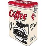 Nostalgic-Art Retro Kaffeedose - USA - Strong Coffee Served Here, Blech-Dose mit Aromadeckel, Vintage Geschenk-Idee für Kaffee-Liebhaber, 1,3 l