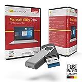 Microsoft® Office 2016 Professional Plus USB Stick mit Verpackung, Unterlagen von Microsoft Lizenz Experten, Zertifikat & Lizenzschlüssel