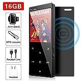 16GB MP3 Player mit Bluetooth 4.2, Musik-Player Digital Audio Portable Lossless Sound Musik-Player mit FM-Radio/Bild/E-Book, Unterstützung erweiterbar bis zu 64 G, Kopfhörer inbegriffen