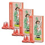 OLShop AG 3er Pack Knox Räucherkerzen Weihrauch-Sandel Ostalgie Design 3 x 24 Stück, Weihnachtskerze, Räucherkegel, Räucherpyramide