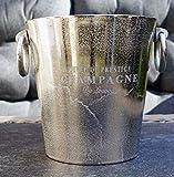 Michael Noll Champagnerkühler, Weinkühler, Flaschenkühler, Aluminium, Silber, S, M, L, 20 cm, 23 cm, 32 cm (23x19,5x20)