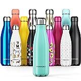 Proworks Edelstahl Trinkflasche | 24 Std. Kalt und 12 Std. Heiß - Premium Vakuum Wasserflasche - Perfekte Isolierflasche für Sport, Laufen, Fahrrad, Yoga, Wandern und Camping - 1 Liter - Grün