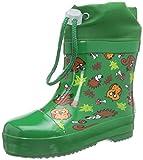 Playshoes Kinder Halbschaft-Gummistiefel, gefütterter Unisex Regenstiefel,Grün,25 EU
