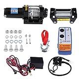 Elektrische Seilwinde Qiilu Elektrische Winden 4000 LB 12V für Auto Yacht ATV LKW Bootsanhänger Quad Bike