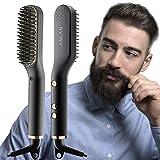 Bartglätter Bürste ANLAN, Bartglätter Für Männer, 3 IN 1 Multifunktionale Elektrischer Bartglätter Haarglätter Bürste,120-200℃ Einstellbare Temperaturen Anti-Verbrühungs-Bartglättung