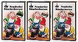 Huss - Neudorfer Räucherkerzen 3er Pack - Klassische Mischung - Weihrauch, Sandel, Tanne - Die Intensiven (3 x 24 Stück)