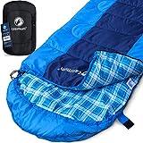 Kompakter Deckenschlafsack für Trekking, Outdoor und Camping - Warmer Sommerschlafsack, 10 bis 5 °C, kleines Schlafsack Packmass, Sleeping Bag, 220x75 cm