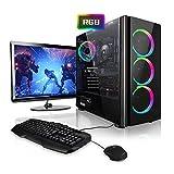 Megaport Gaming-PC Komplett-PC Intel Core i7-9700F 8x 4.7 GHz Turbo • 24' Bildschirm + Tastatur + Maus • GTX1660 6GB • 480 GB SSD • 16GB DDR4 • Windows 10 • 1TB • WLAN gamer pc computer high end gaming pc komplettsystem