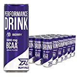Runtime BCAA Energy Drink - Berry - volle Power, Energie und Fokus für Arbeit, Sport, Studium und Gaming, mit Koffein und Grüner Tee Extrakt, 24 x 250 ml Dosen (Berry)