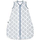 emma & noah Premium Baby Schlafsack, Flauschig Weich, Bequem & Atmungsaktiv, 100% natürliche Baumwolle, Großzügige Bewegungsfreiheit, 2.5 TOG (Rauten Blau, 3-9 Monate / 70 cm)