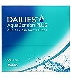 Dailies AquaComfort Plus Tageslinsen weich, 90 Stück, BC 8.7 mm, DIA 14.0 mm, -2.50 Dioptrien