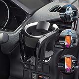 UMISKY Universal KFZ Auto-Getränkehalter 2 in 1 Flaschenhalter Kaffee Handy Halterung Verstellbare Auto Lüftungshalterung Handyhalterung (Silber)