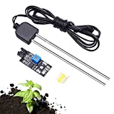 iHaospace Soil Moisture Sensor and Soil Detector Module Soil Humidity Test with Corrosion Resistance Probe for Arduino