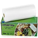 KitchenBoss Vakuumrollen mit Cutter-Box, 1 Rollen 20x1500cm Folienrollen BPA-Frei für alle Vakuumierer, stark & reißfest & kochfest & wiederverwendbar Vakuumbeutel für Sous Vide