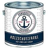 Holzschutzfarbe Braun Dunkelbraun Wetterschutzfarbe Aussen // Hamburger Lack-Profi (1 L)