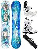 Airtracks Snowboard Set - Board Glam Lady 144 - Softbindung Master - Softboots Savage W 39 - SB Bag