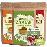 NABALI FAIRKOST FÜR ALLE Zaatar & Dukkah & Sumach Qualitätsware aus Palästina I 100% naturell aromatisch traditionell frisch orientalisch I ohne Konservierungsstoffe I vegan (je 50 Gr)