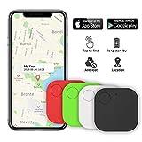 Kimfly Key Finder Anti-Lost Tracker, Schlüsselfinder mit Bluetooth Tracker Wallet Telefonschlüssel Alarm Reminder für Telefon Haustiere Schlüsselbund Brieftasche Gepäck 4pack