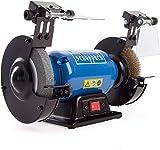 Scheppach 5903108901 Schleifgerät / Doppelschleifer SM150LB, + Schruppscheibe, Bürstenscheibe für vielfältigen Einsatz, 400 W, 230 V, Durchmesser 150 / 12,7 mm