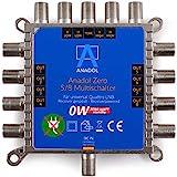 Anadol Zero Watt 5/8 - ECO - Stromloser Multischalter für 8 Teilnehmer - Geringe Stromaufnahme - 0 Watt Standby Multiswitch [Digital, HDTV, FullHD, 4K, UHD]