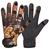 Angelhandschuhe LLMZ 1Pcs Neopren Handschuhe Angeln Angelhandschuhe Fishing Gloves für Paintball Angeln Fotografieren Jagd Outdoor Aktivitäten