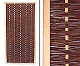 bambus-discount.com Sichtschutzwand Weide Mia 180x90cm hochwertig, gekochte Weide, Holz gebeizt