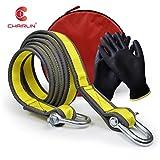 CHAIRLIN Abschleppseil, 5 cm x 4 m, Laborgetestet, 9 Tonnen Bruchfestigkeit – strapazierfähige Tasche mit Kordelzug – dreifach verstärkte Schlaufenende für Sicherheit – Notfall-Abschleppgurt (Normal)