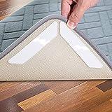 Hosung Antirutschmatte Teppiche, 16 Stück Waschbar Antirutschmatte für Teppich Wiede Rverwendbar Teppichunterlage Teppichstopper - Idealer Rutschschutz für Teppich