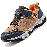 Unitysow Kinder Trekking- & Wanderschuhe Jungen Mid Wanderstiefel Mädchen Outdoor Trekking Schuhe rutschfeste Sneaker Gr.29-39,Braun-1 Gr.39