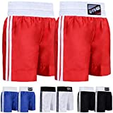 Farabi Pro Boxing Shorts for Boxing Training Punching, Sparring Fitness Gym Clothing Fairtex jiu Jitsu MMA Muay Thai Kickboxing Equipment Trunks (Red, Medium)