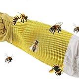 Bigsweety 1 Paar Imkerschutzhandschuhe wasserdichte Imkerhandschuhe 47 cm, Imkerhandschuhe aus PU-Leder für Männer und Frauen
