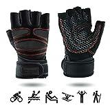 UPGRADE S Premium Sporthandschuhe mit Handgelenkschutz | Atmungsaktiv | rutschfest | für Herren & Damen | mit Handgelenk Bandage | Fitness Handschuhe | Crossfit Handschuhe | Trainingshandschuhe