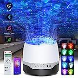 LED Projektor Sternenhimmel Lampe, ARORY Music Projektor Starry Wasserwellen Night Light Projector mit Bluetooth Lautsprecher, Sternenlicht Projektor mit Fernbedienung für Kinder Weihnachten Party