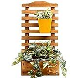 Z·Bling Pflanzkasten mit Spalier Rankhilfe Blumenkasten Pflanzkübel Pflanz Rankgitter Rosenbogen Blumenkübel aus Holz 72 x 30 x 16 cm für Kletterpflanzen